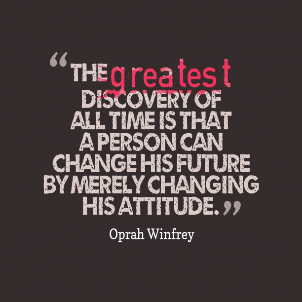 Oprah Winfrey quote about great