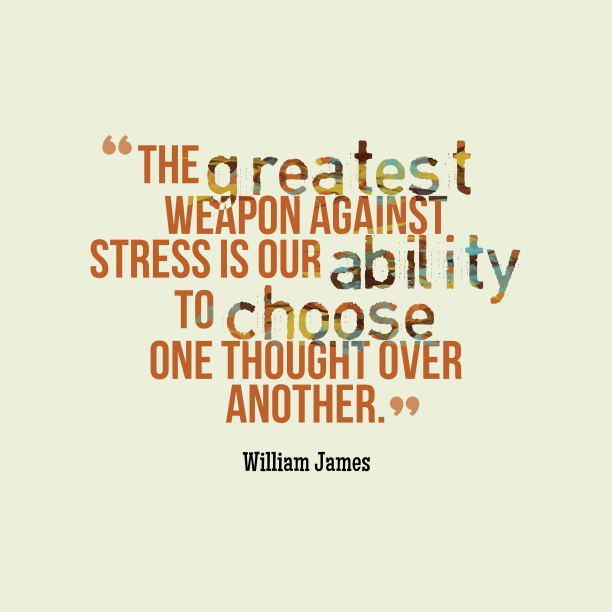 William James quote about weapon.