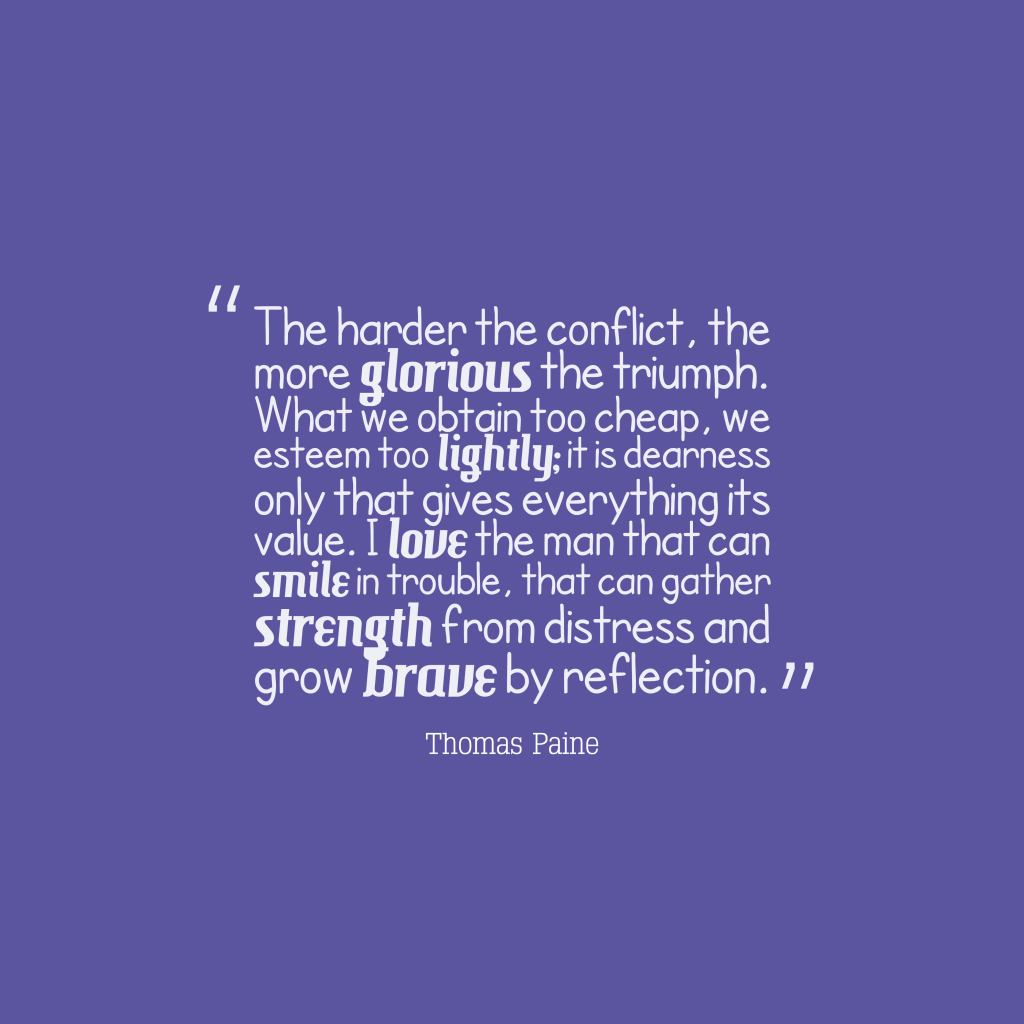 Thomas Paine quote about team work.