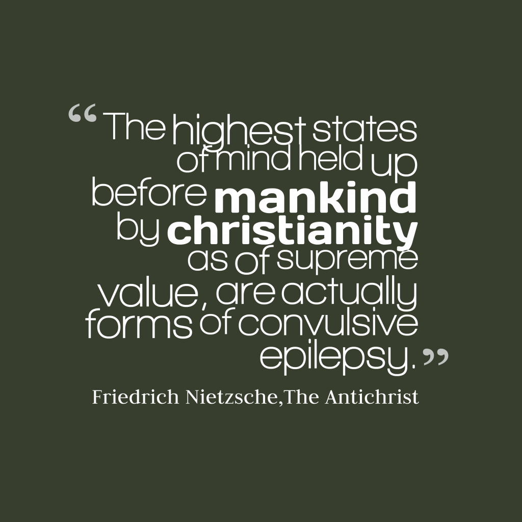 friedrich nietzsche the arch enemy of christianity A summary of first essay, sections 10-12 in friedrich nietzsche's friedrich nietzsche the concept of the evil enemy is basic to ressentiment just.