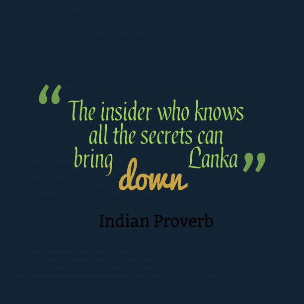 Indian proverb about knoeledge.