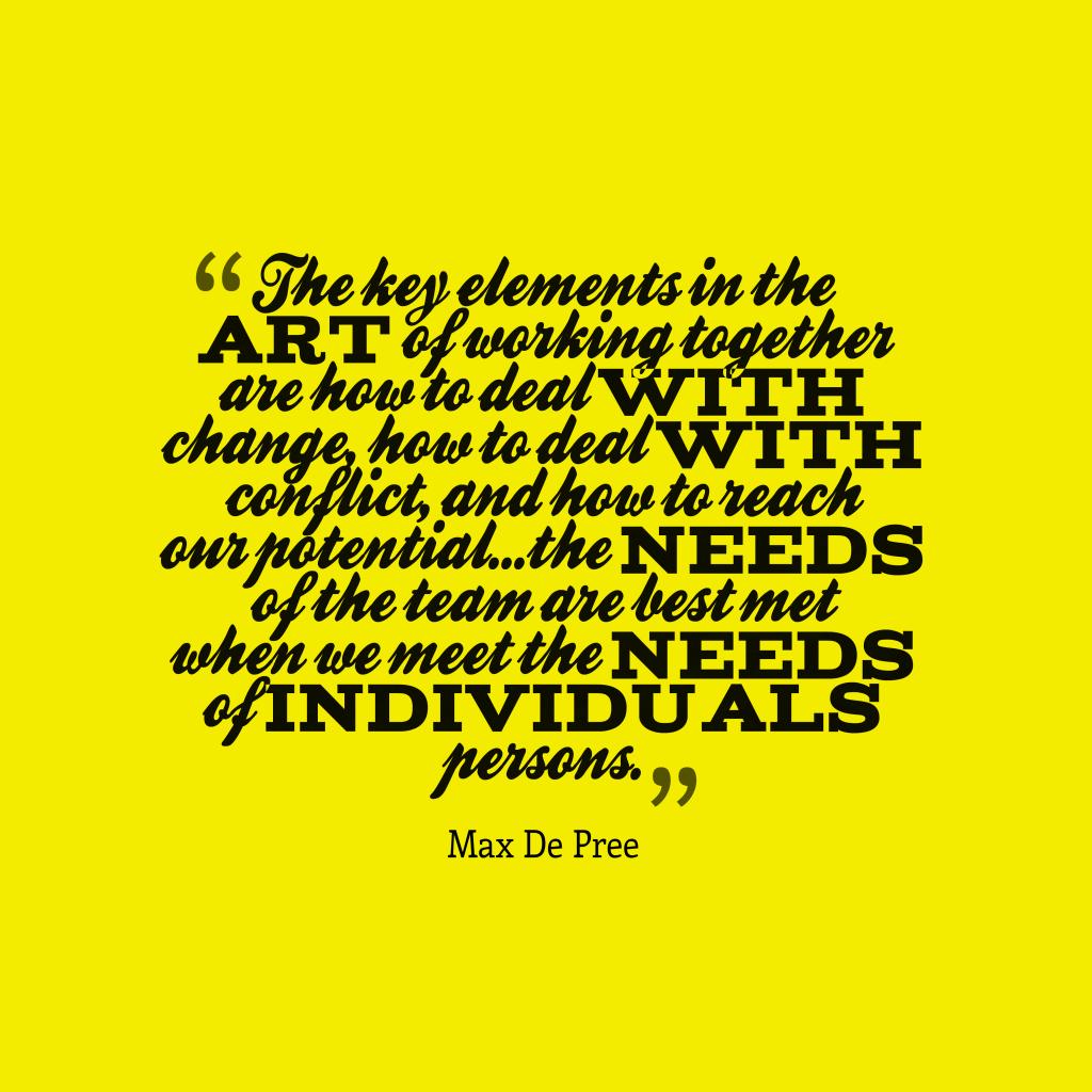 Max De Pree quote about team.