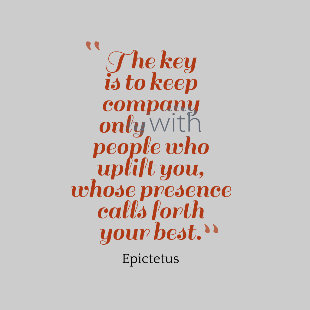 Epictetus quote about company.