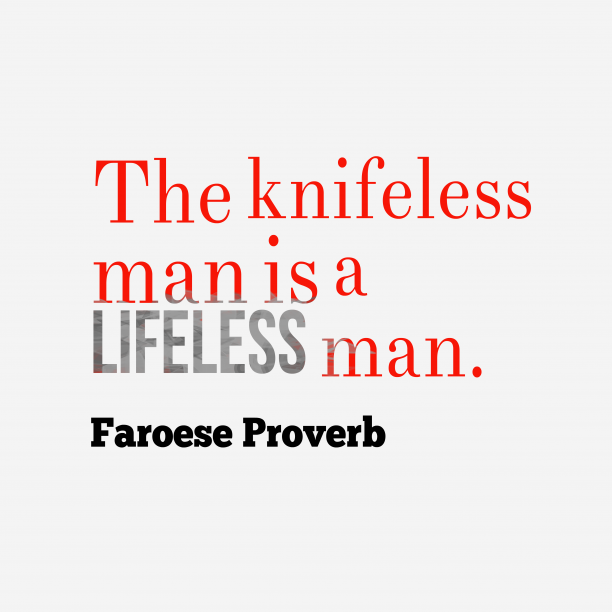Faroese wisdom about knowledge.