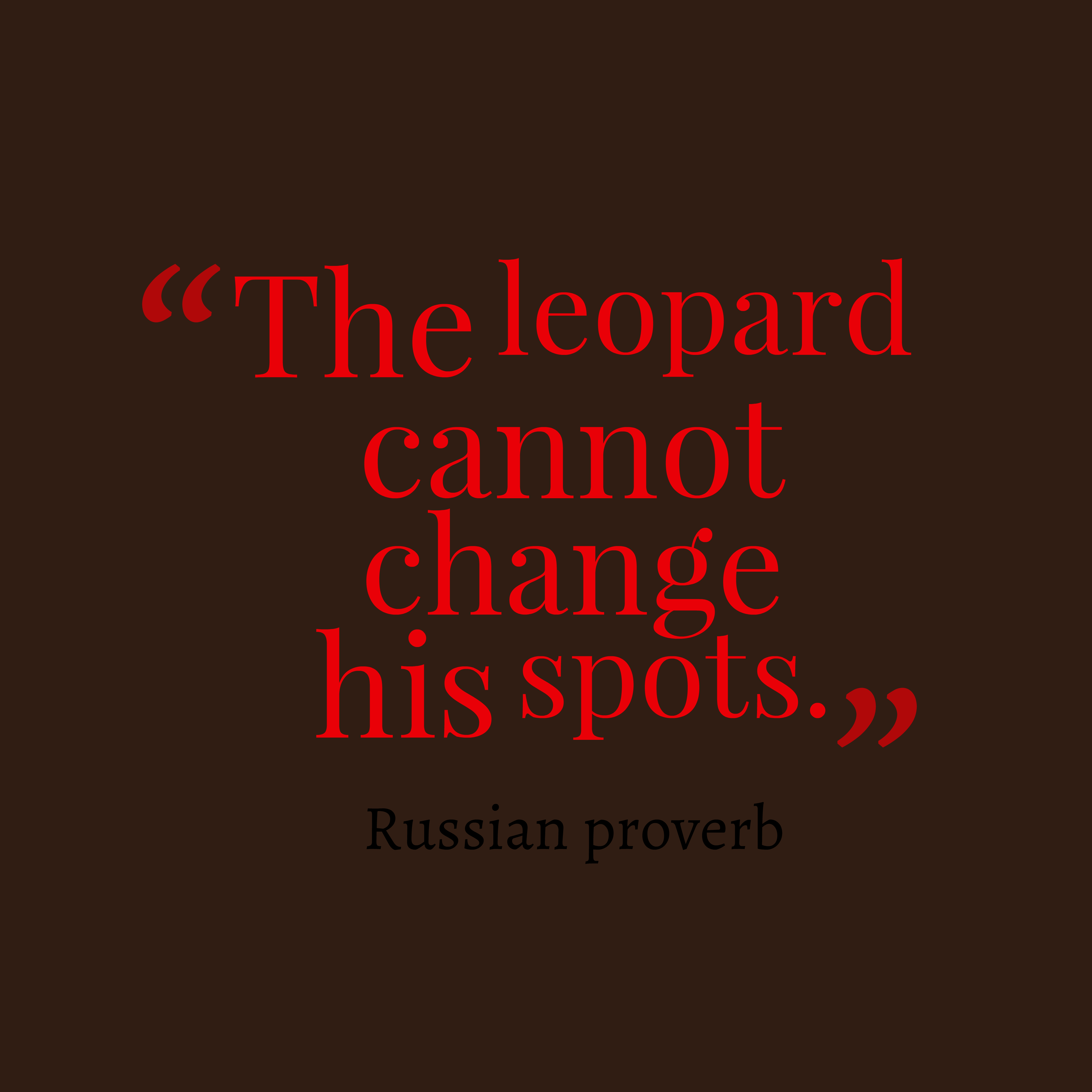 A Leopard Never Changes Its Spots Shutterstock 417942535