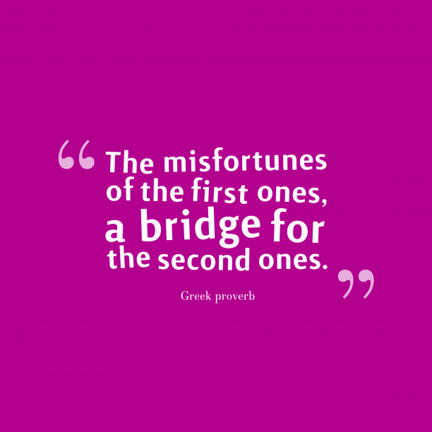 Greek wisdom about mistakes.