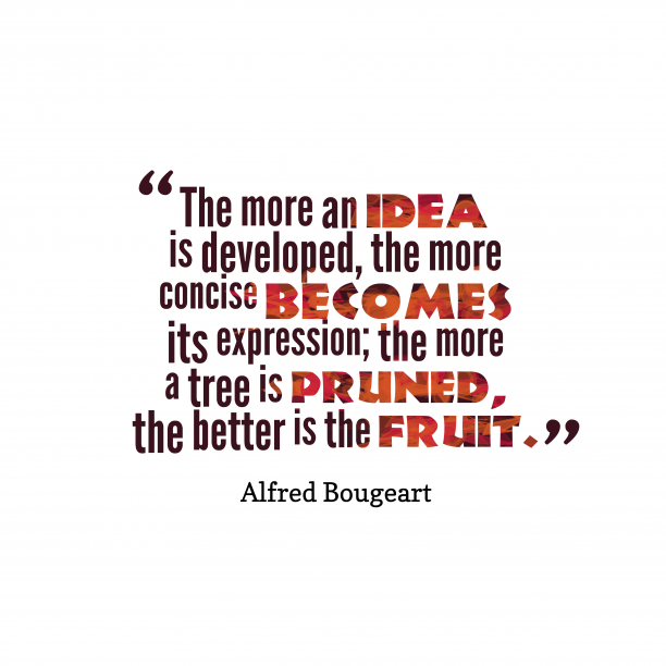 Alfred Bougeart quote about ideas.