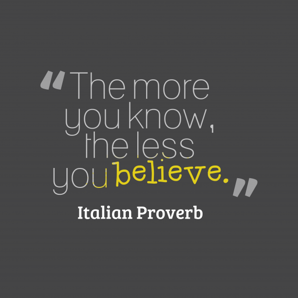 Italian prover about knowledge.