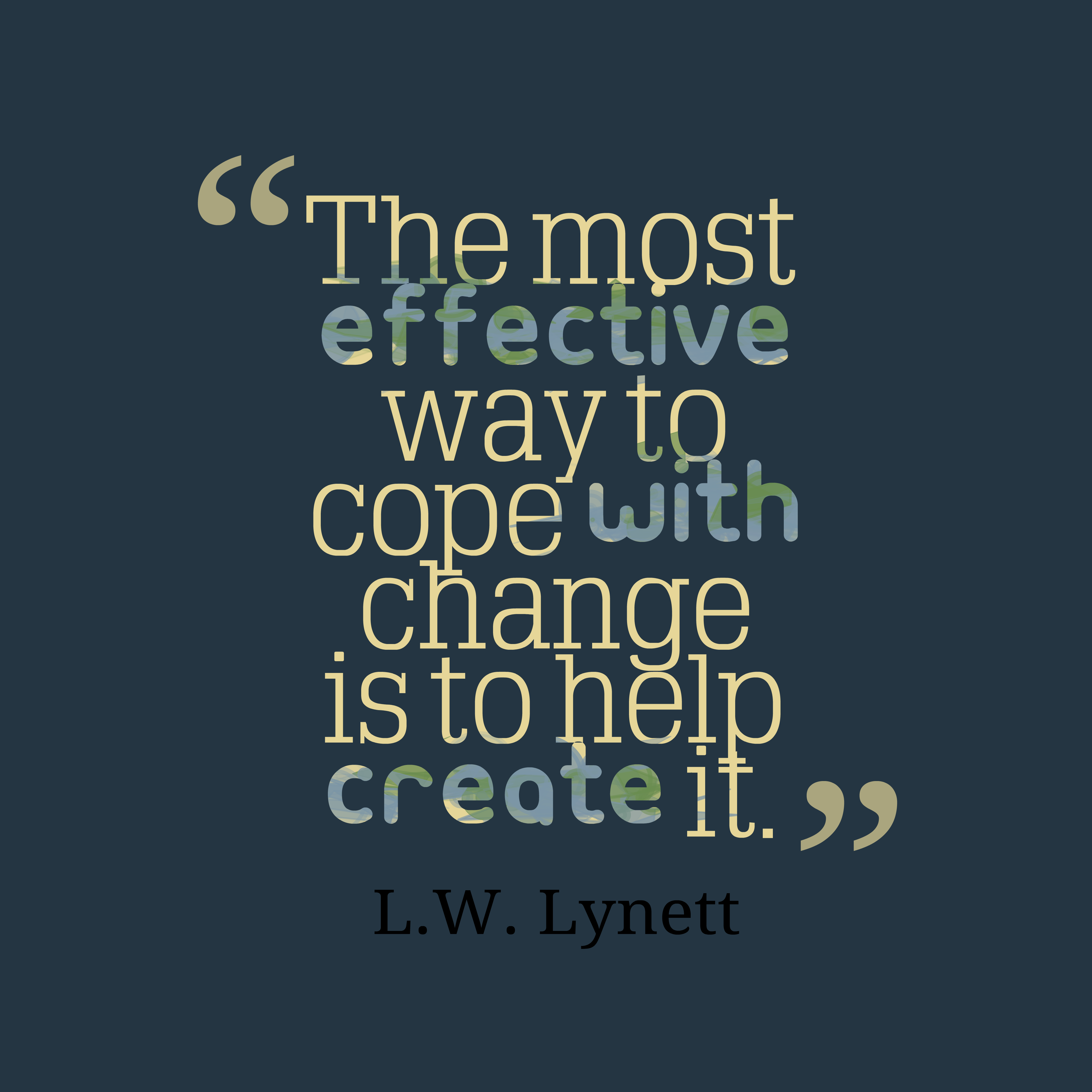 Quotes image of The most effective way to cope with change is to help create it.