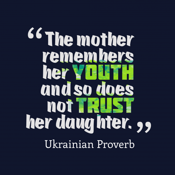 Ukrainian proverb about mother.