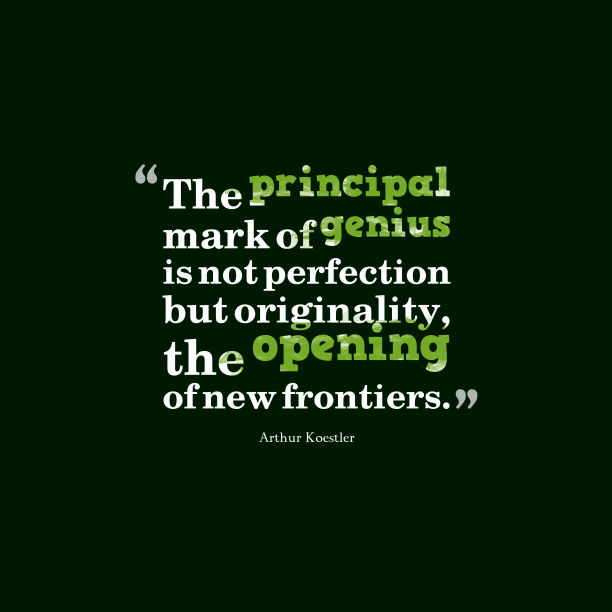 Arthur Koestler quote about imagination.