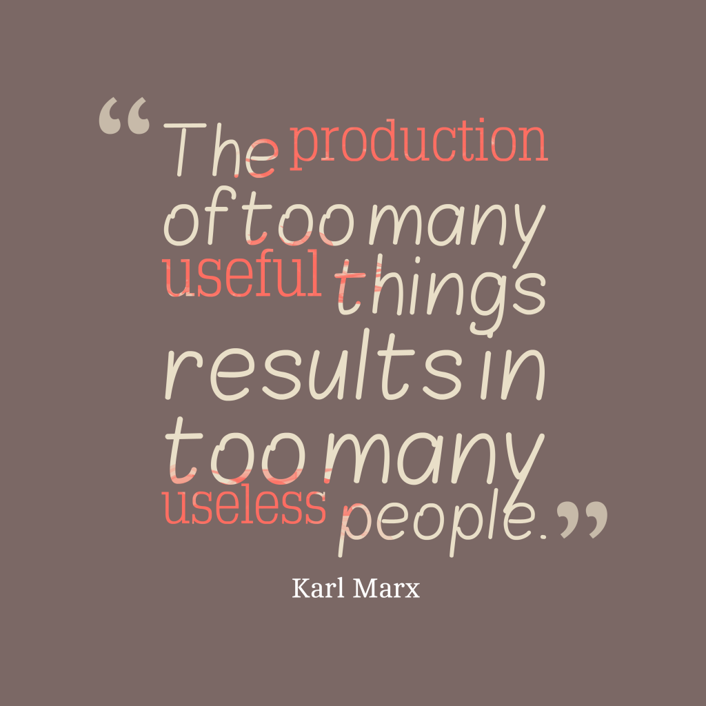 Karl Marx quote about production.