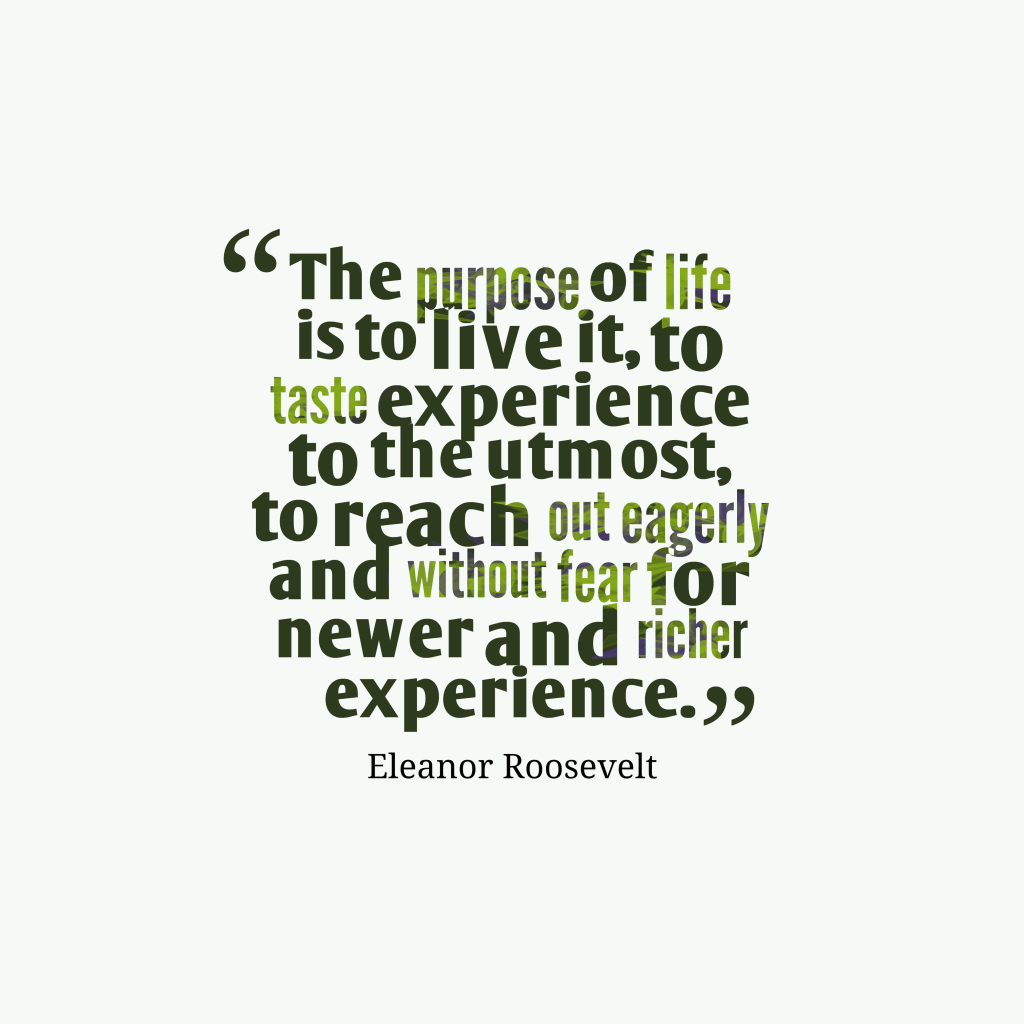 Eleanor Roosevelt quote about life.