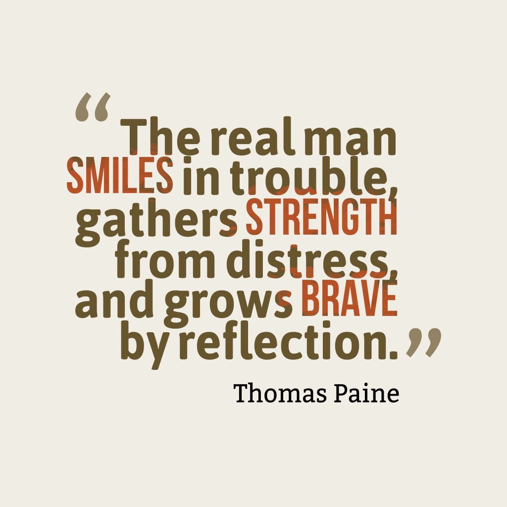 Thomas Paine quote about smile.