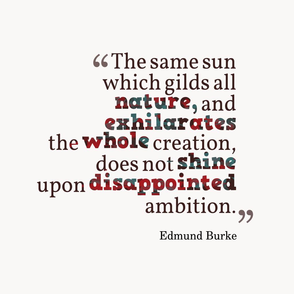 Edmund Burke quote about ambition.