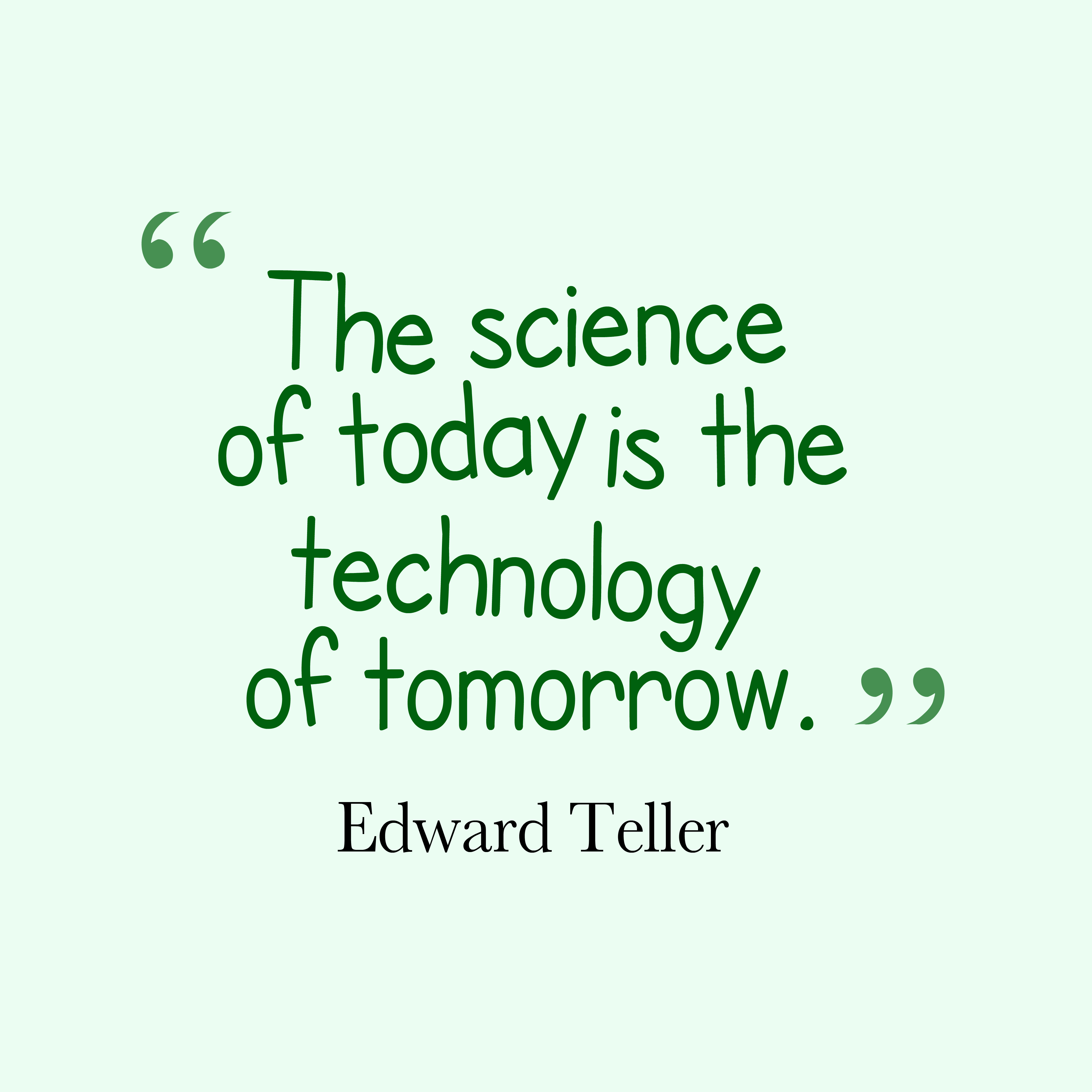 get high resolution using text from edward teller quote