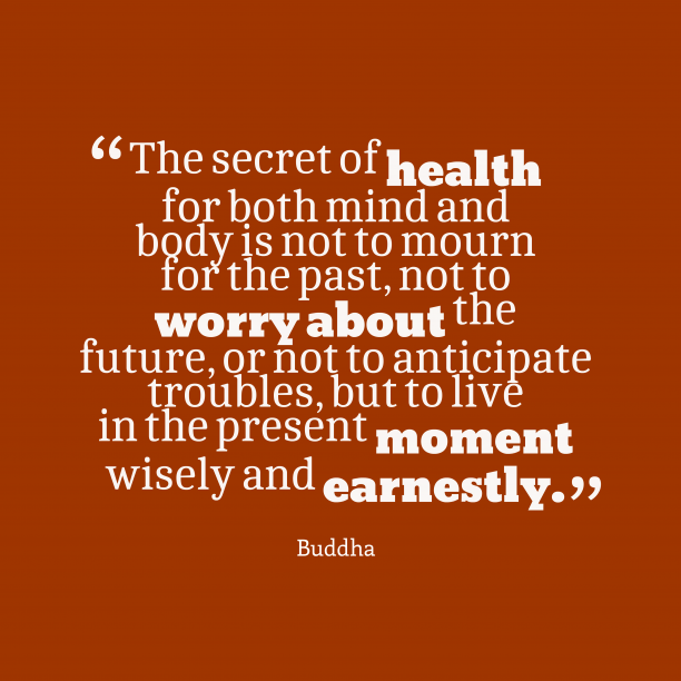 Buddha quote about healthy.