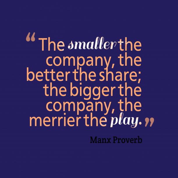 Mank proverb about company.