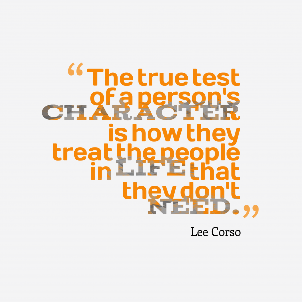 Lee Corso 's quote about . The true test of a…