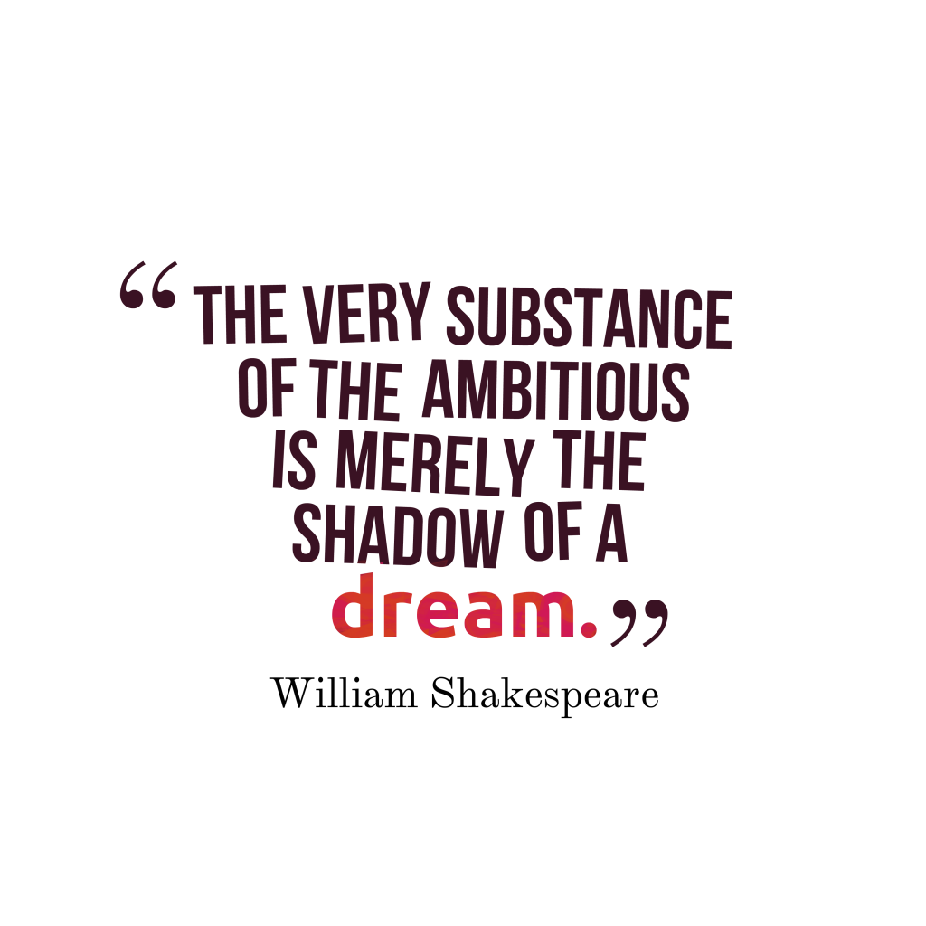 William Shakespeare quote about ambition.