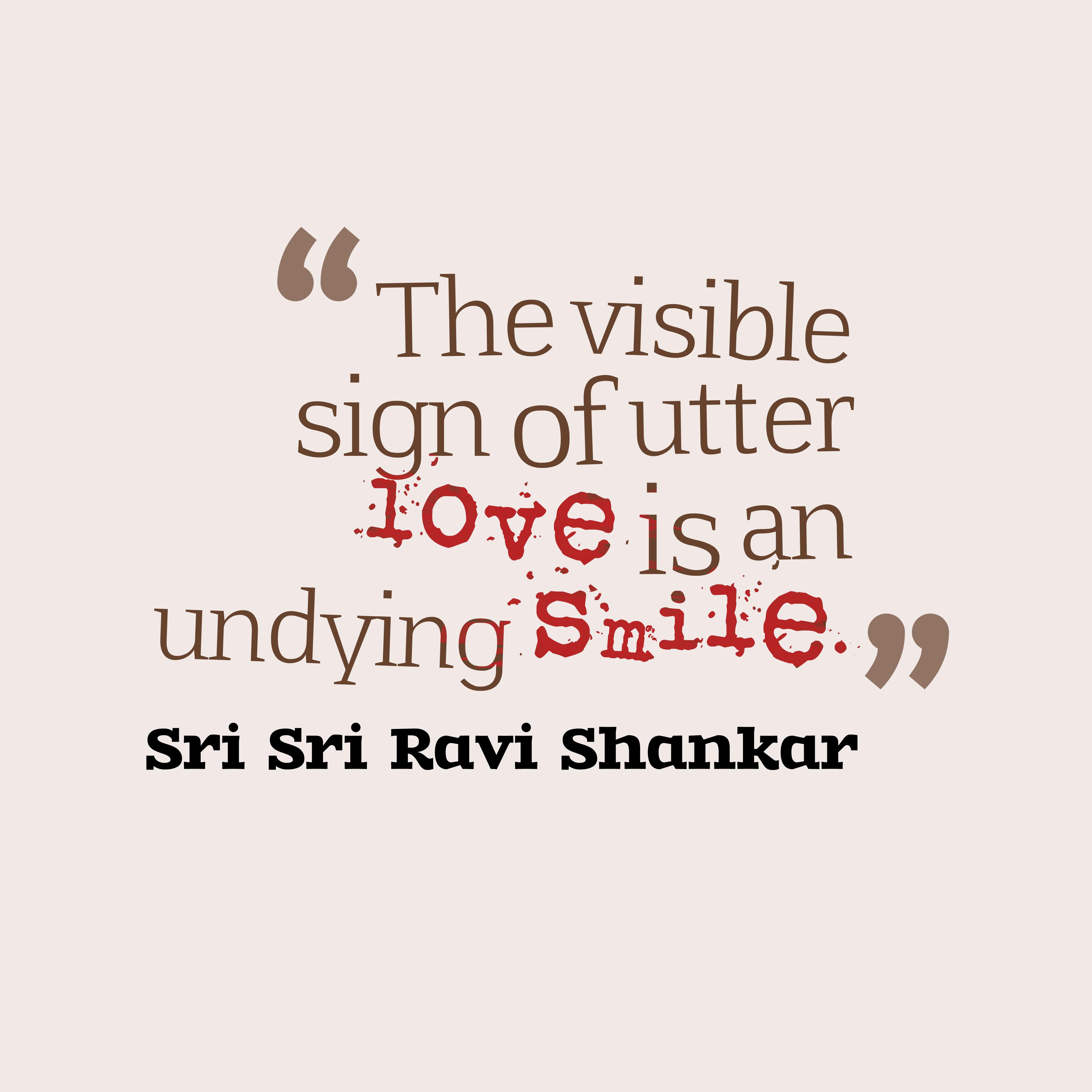 Sri Sri Ravi Shankar Quote About Smile