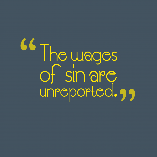 The wages of