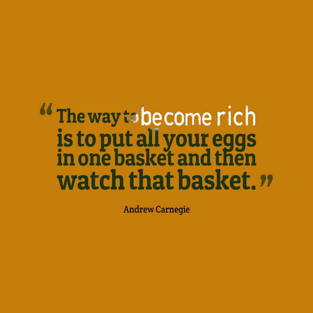 Andrew Carnegie quote about finance.
