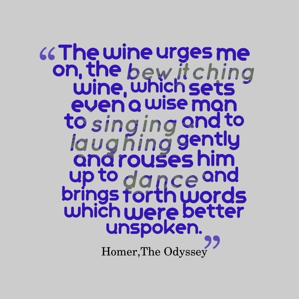 The wine urges