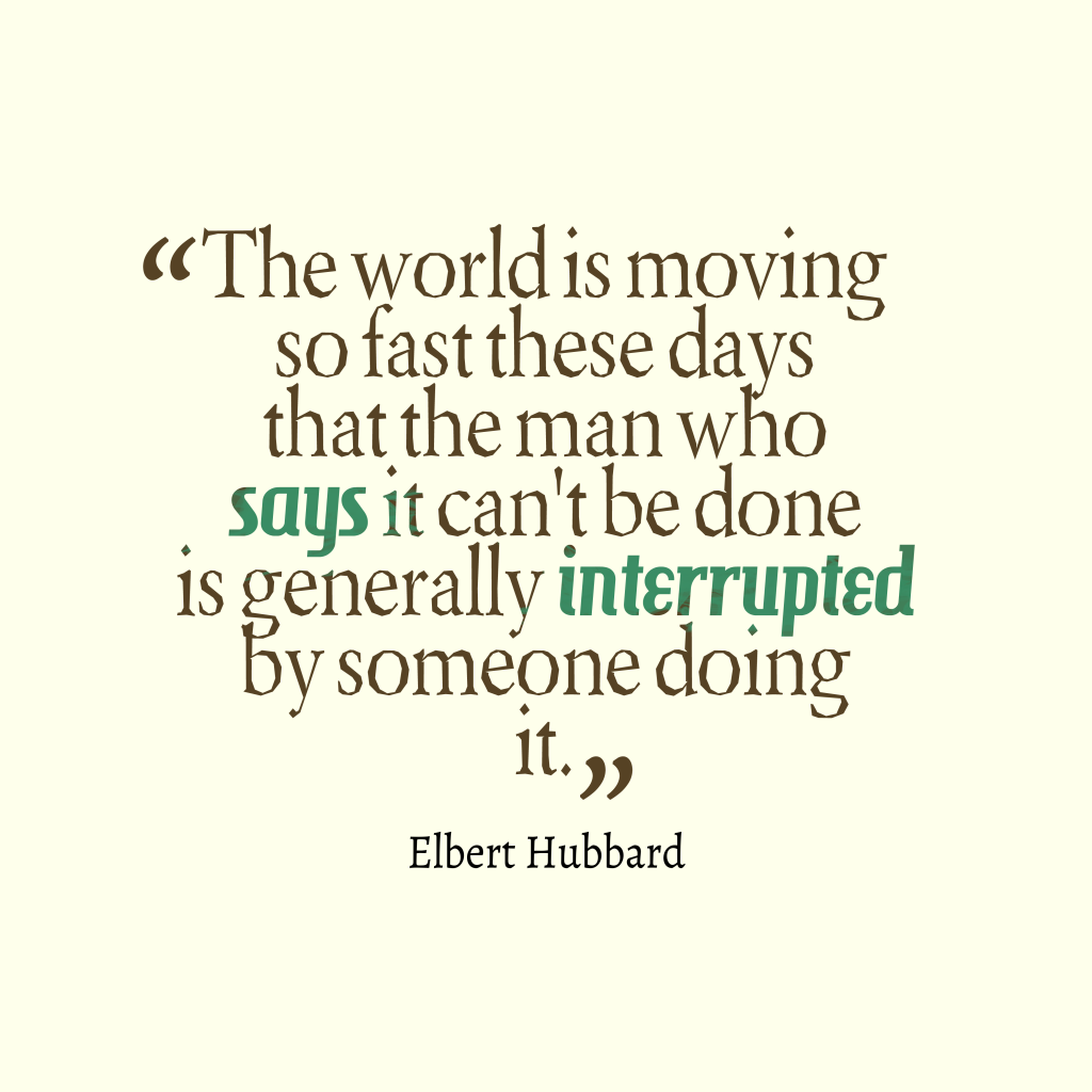 Elbert Hubbard quote about ambition.