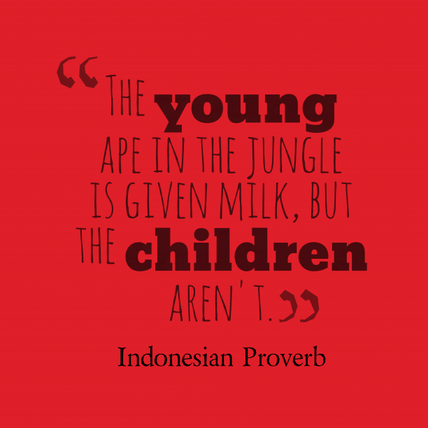 Indonesian proverb about cares.