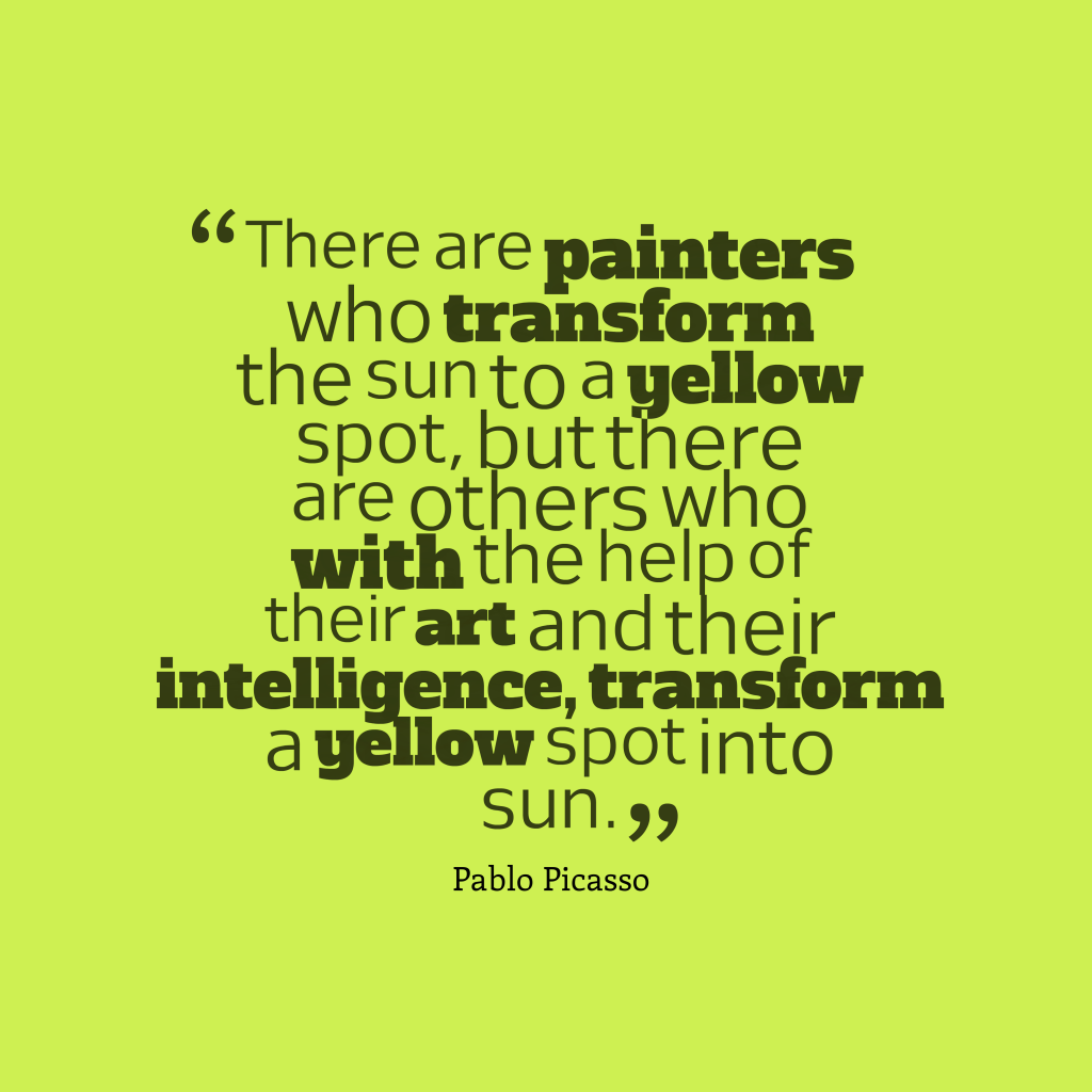 Pablo Picasso quote about creativity.