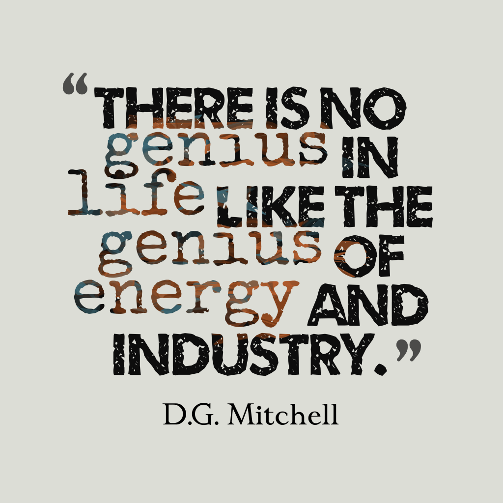 D.G. Mitchell quote about energy.