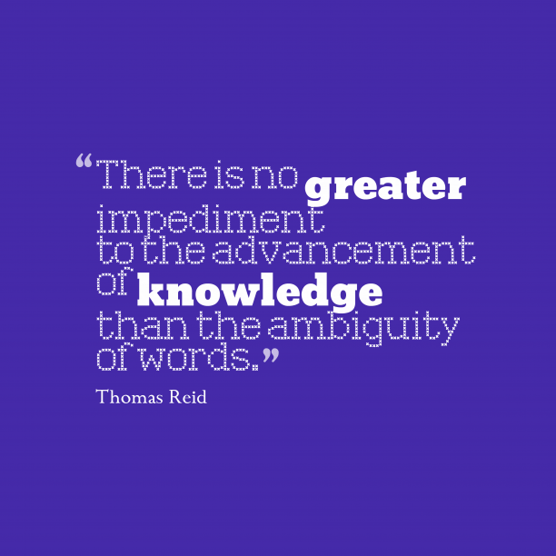 Thomas Reid quote about knowledge