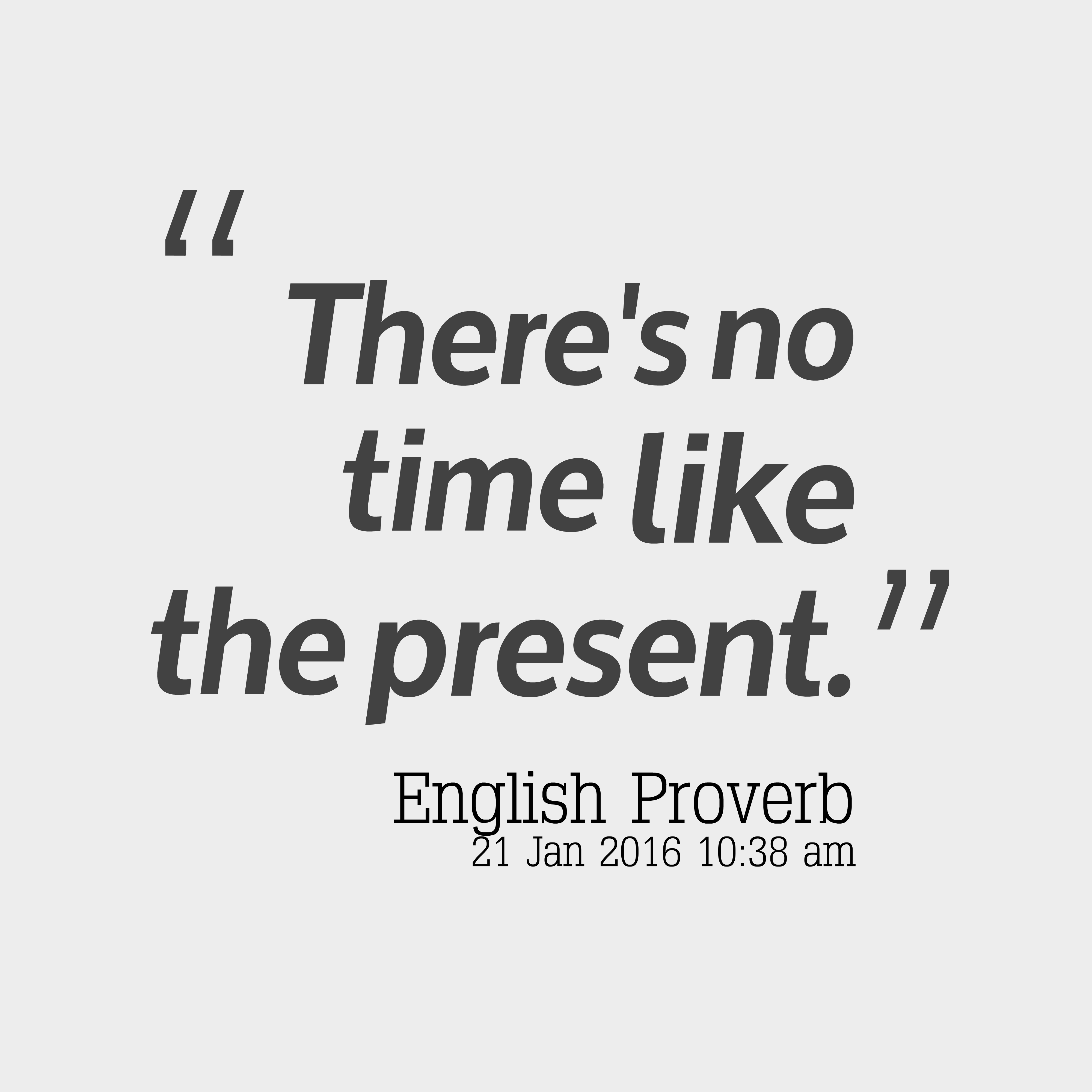 English Wisdom About Time
