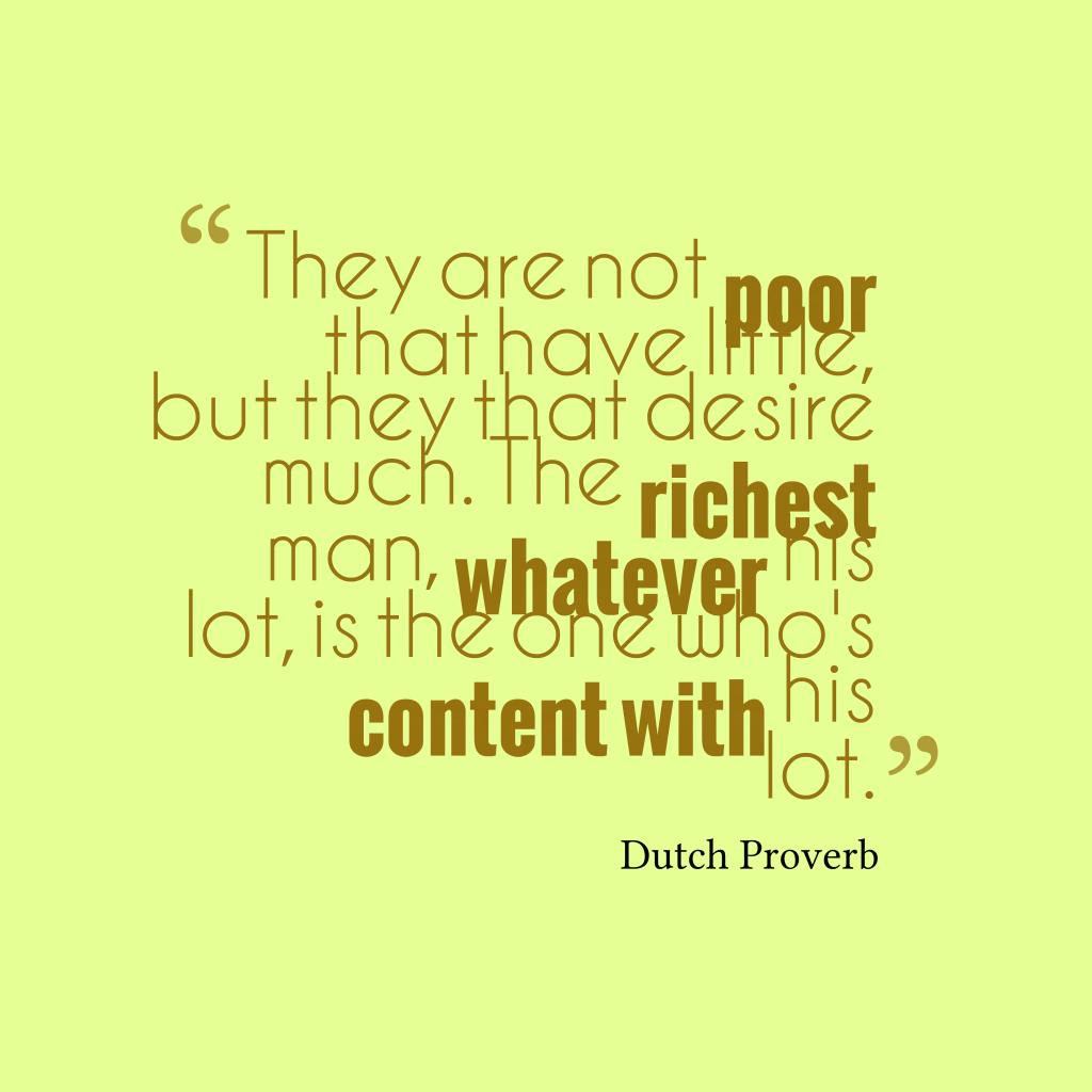 Dutch proverb about gratitude.