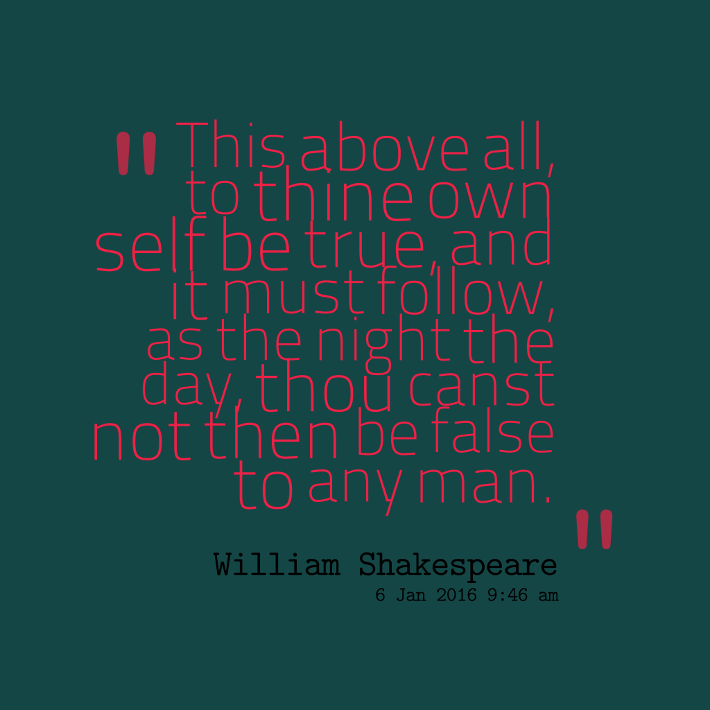 William Shakespeare quote about truth.