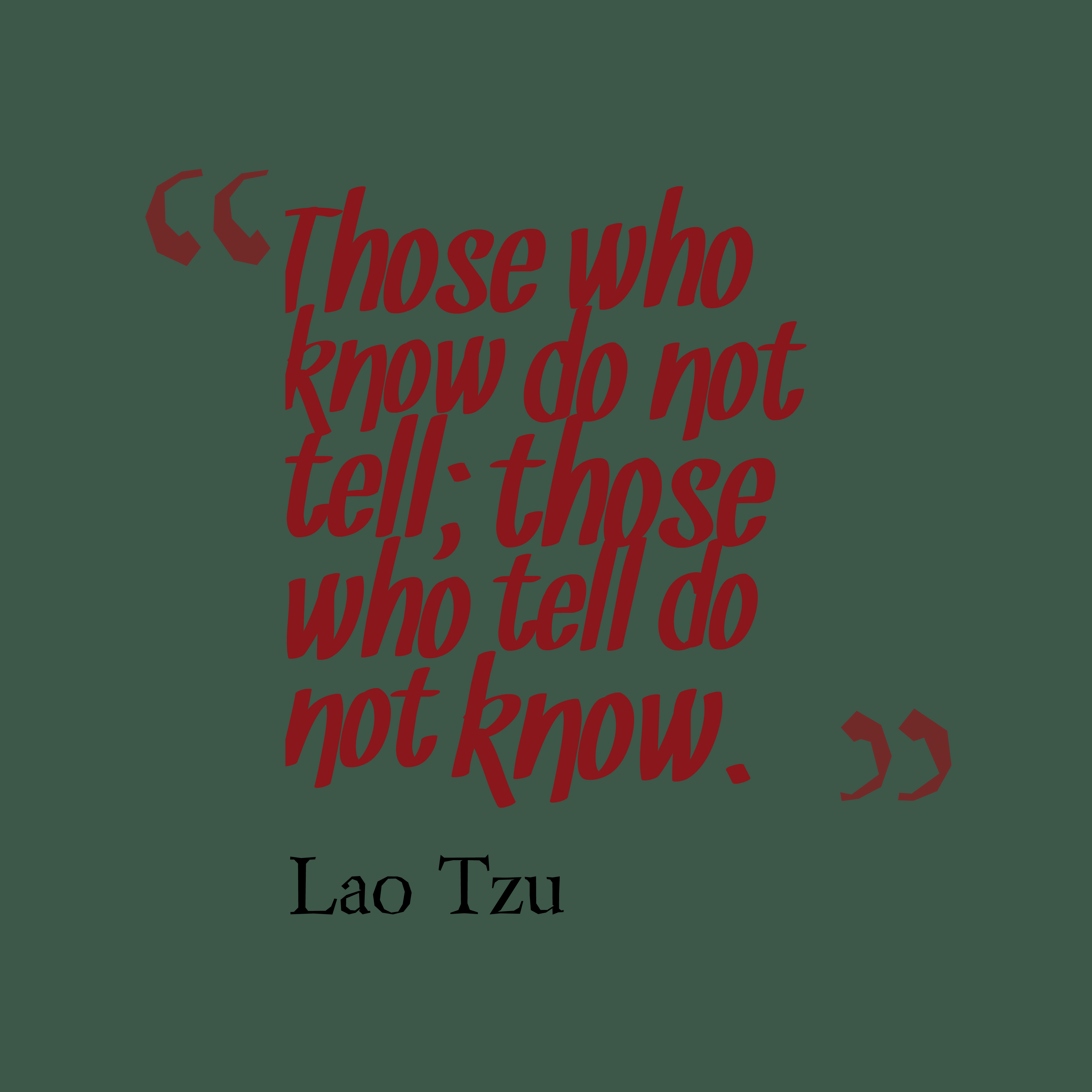 Lao Tzu Quote About Knowledge