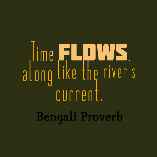 Bengali wisdom about worries.