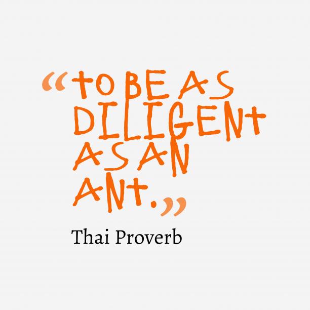 Nepali wisdom about diligent.
