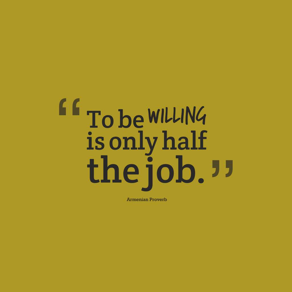 Armenian proverb about job.