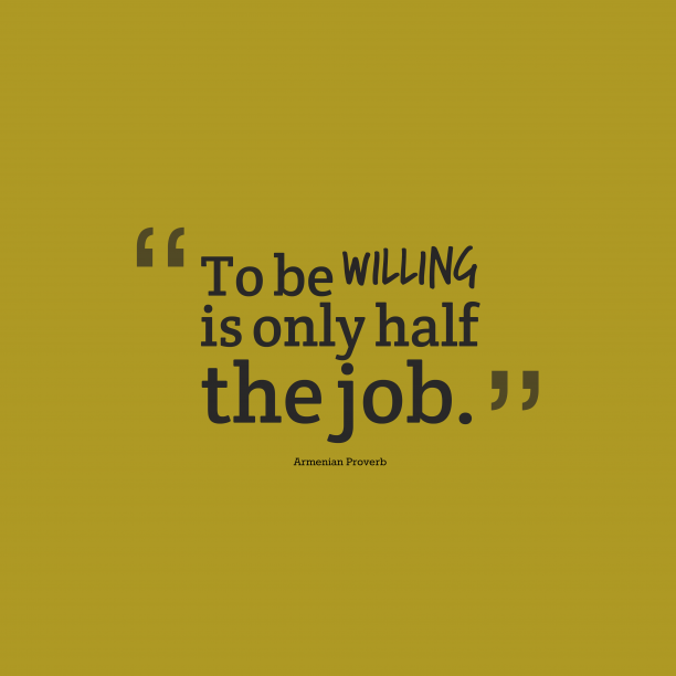 Armenian proverb about job.