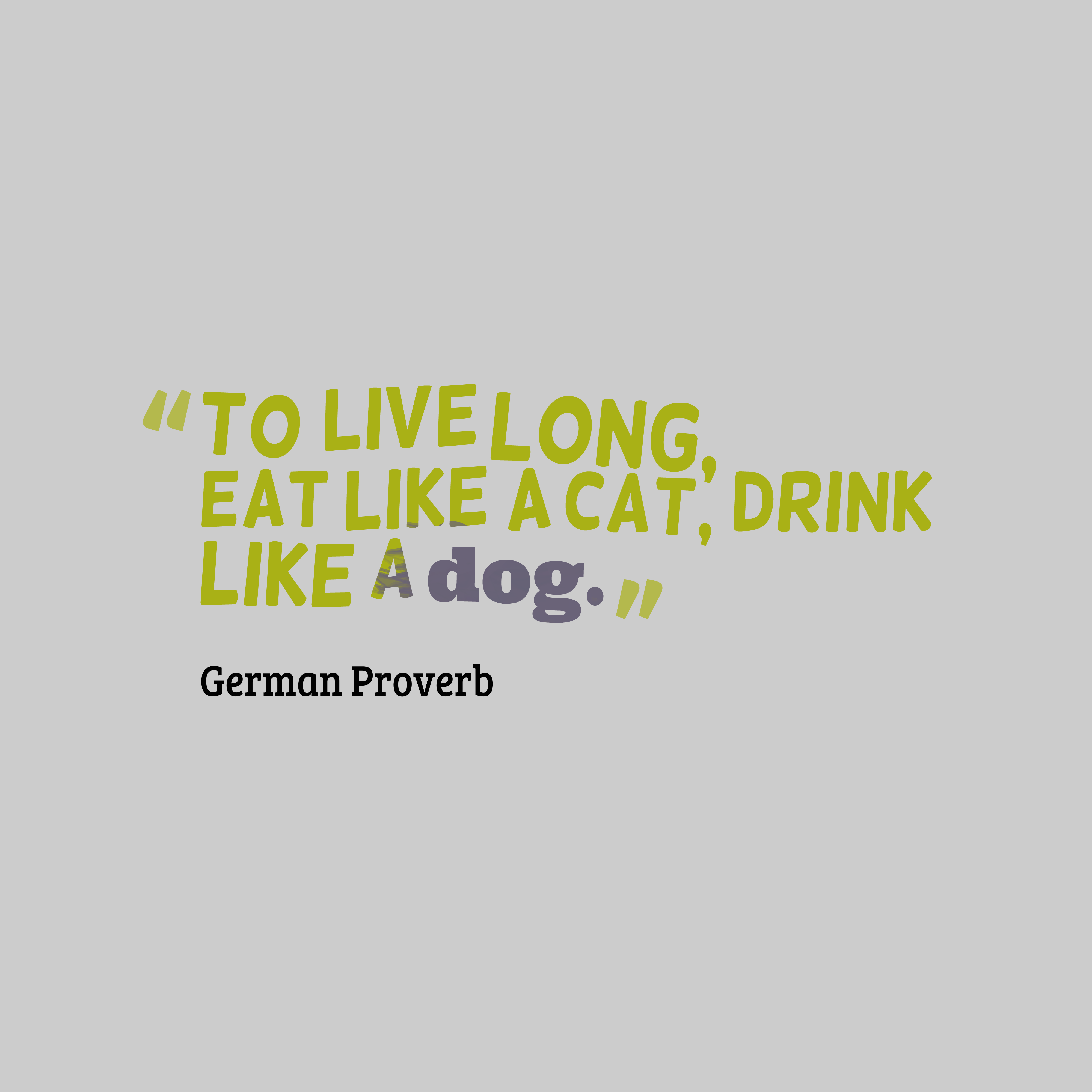 Quotes image of To live long, eat like a cat, drink like a dog.