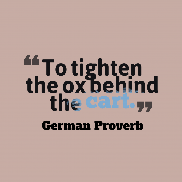 German wisdom about natural.