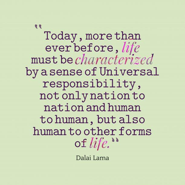 Dalai Lamaquote about life.