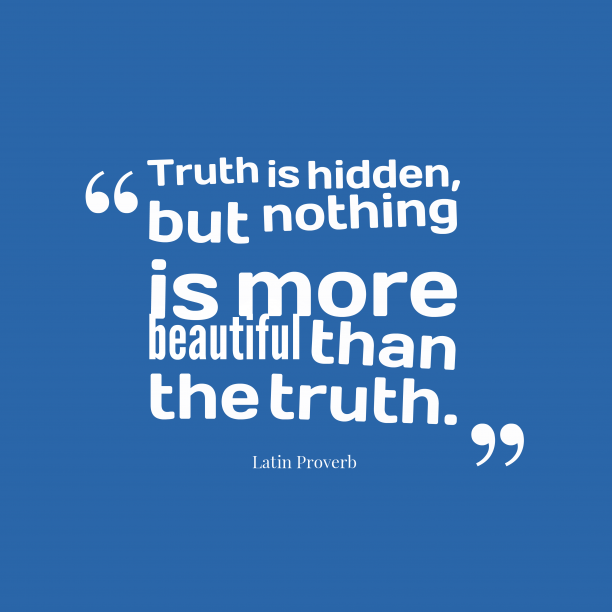 Latin proverb about truth.