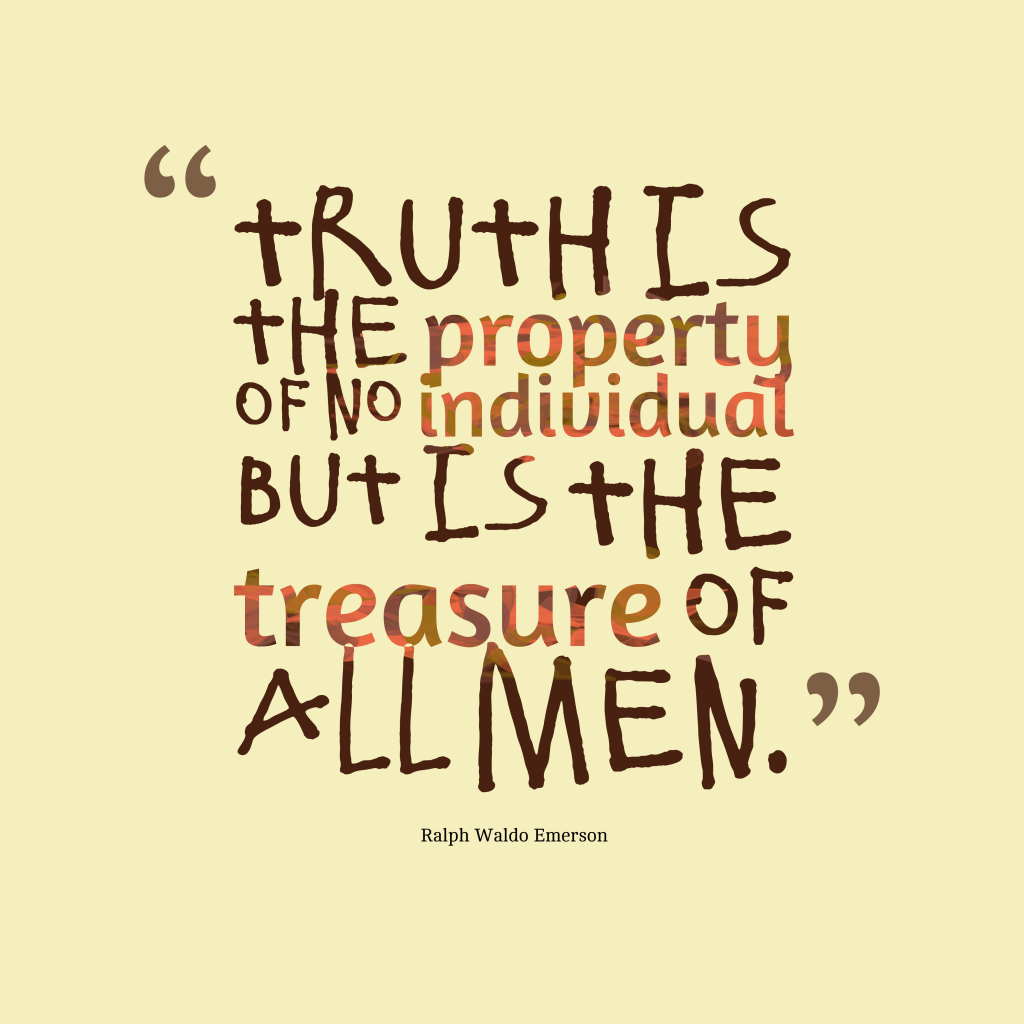 Download Slam Quotes About Truth: Picture » Ralph Waldo Emerson Quote About Truth