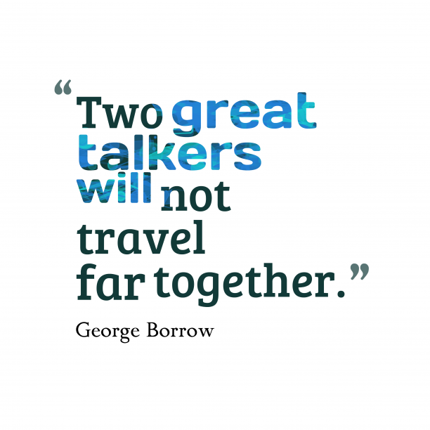 George Borrow quote about talk.