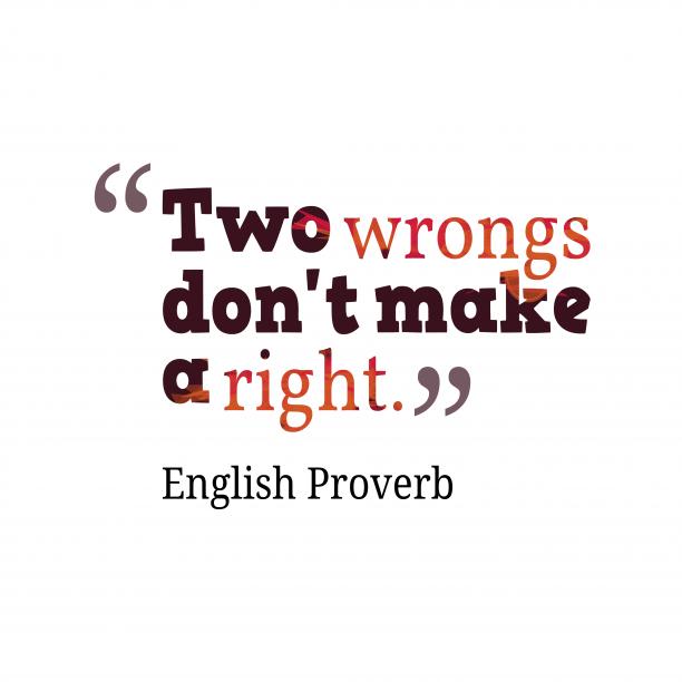 English wisdom about revenge