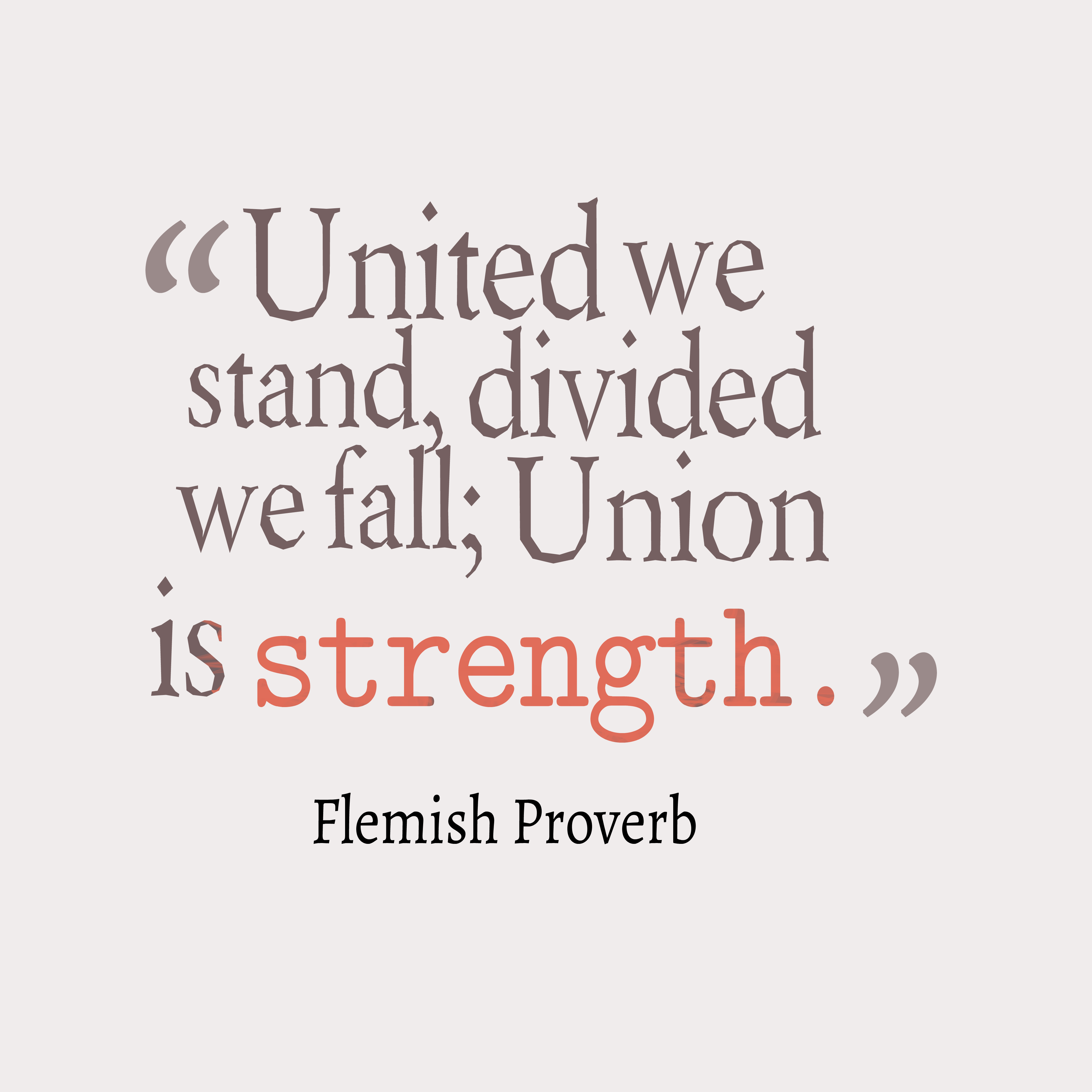 union is strength essay