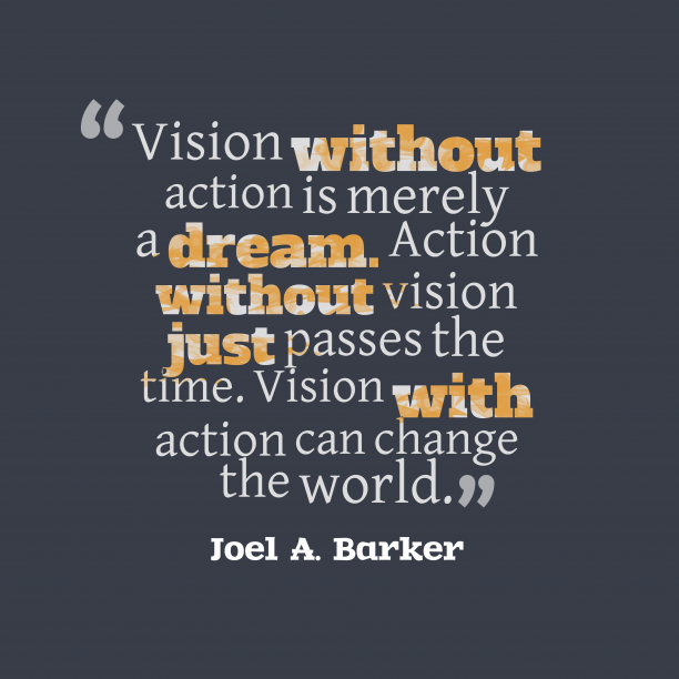 Joel A. Barker quote about vision.